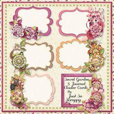 Secret Garden Digital Scrapbook Kit Journal by JssScrapBoutique, $2.99