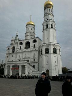 Praça das Catedrais no Kremlin da Praça Vermelha em Moscou