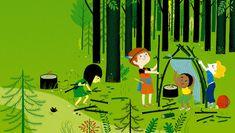"""Illustration pour le magazine """"Les belles Histoires"""" Bayard presse- juillet 2009"""