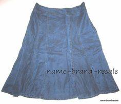 COLDWATER CREEK Womens XS 4 TENCEL Long Denim Jean Flare Skirt MODEST #ColdwaterCreek #FullSkirt