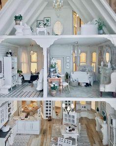 Modern Dollhouse, Diy Dollhouse, Dollhouse Miniatures, Victorian Dollhouse, Miniature Furniture, Doll Furniture, Dollhouse Furniture, Doll House Plans, Barbie Doll House