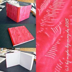 Made-by-May: Skizzenbuch mit Kleisterpapier bezogen