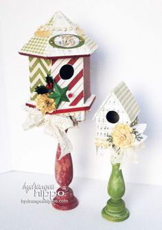Christmas Birdhouse | Patrece's Misc. Creations | Pinterest ...
