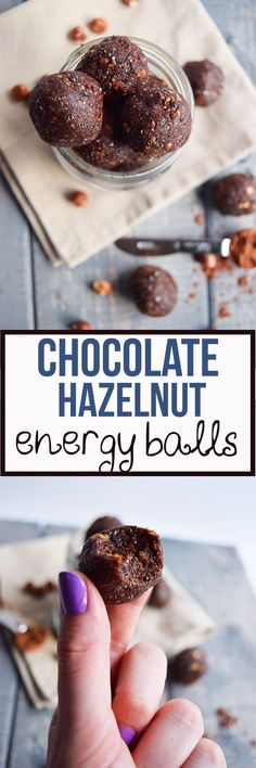 These Chocolate Hazelnut Energy Balls are the perfect snack to tide you over when hunger strikes. These little balls of goodness are vegan, paleo and gluten-free and are loaded with glow worthy ingredients like chia seeds, milled flaxseed and hazelnuts. You'll have a hard time having just one!