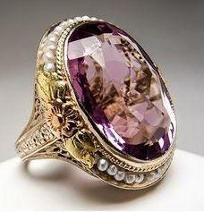 Antique Amethyst Ring from Eragem - theowlskull.blogs...