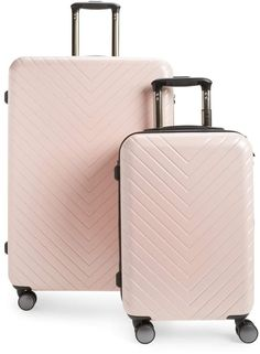 aa99fc3b6 Nordstrom Chevron 29-Inch & 18-Inch Spinner Luggage Set Travel Luggage,