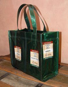Upcycled Starbucks bag