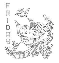bird chores friday embroidery