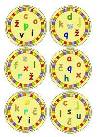 DOBBLE - malé tlačené písmenká Games For Kids, Diy For Kids, Schools First, 1st Grade Math, Diy Games, Alphabet Activities, Teaching Materials, Board Games, Decorative Plates