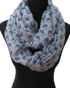 Find More Scarves Information about 10pcs lot Owl Print Women s Infinity  Scarf 7f071c03c219
