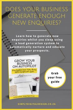 Download our free guide to learn how to generate new enquiries whilst you sleep using a lead generation system to automatically nurture and educate your prospects. Create your lead funnel or marketing funnel. Content Marketing Strategy, Marketing Plan, Marketing Tools, Online Marketing, Digital Marketing, Lead By Example Quotes, Marketing Calendar, Simple Words, Lead Generation