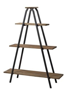 Wooden A Line Shelves with Metal Frame by Distressed Downtown Style on @HauteLook
