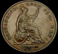 M466: 1858 #queen victoria large copper #penny in #lovely grade,  View more on the LINK: http://www.zeppy.io/product/gb/2/261957000972/