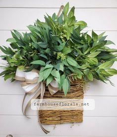 Mixed Forest  Greenery Door Hanger Basket image 5