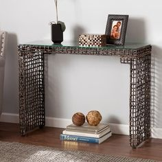 Harper Blvd Landers Woven Sofa/ Console Table - 18844673 - Overstock.com Shopping - Great Deals on Harper Blvd Coffee, Sofa & End Tables