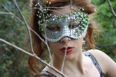 Silver Masquerade Mask Masquerade ball mask by WildRoseAndSparrow