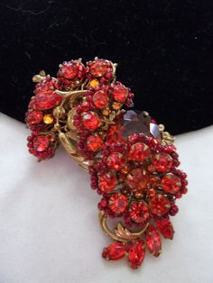 MIRIAM HASKELL Pin Brooch Vintage 1950s Flower by AnnesGlitterBug