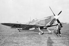 "Supermarine Spitfire Mk.IX, BS546, MT-J ""O Guarany"", of No. 122 Squadron RAF,with its Free French pilot, P/O G le Gall at Hornchurch, 1942/43"