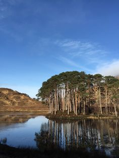 Small Loch outside our holiday house in Lochailort, Scotland