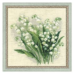 Lily of the Valley Counted Cross Stitch Kit - Cross Stitch, Needlepoint, Embroidery Kits – Tools and Supplies