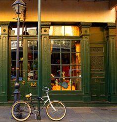 Storefront- green french quarter