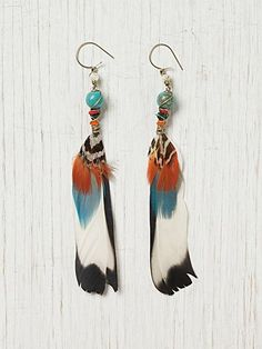 serrano feather earrings