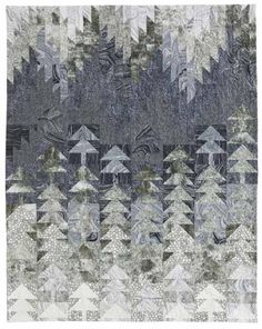 Misty Pines pieced quilt by Patti Carey.  McCalls Quilting January/February 2013.
