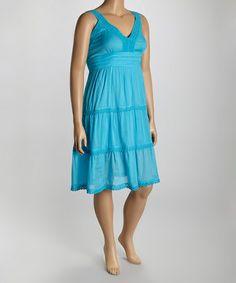 Look what I found on #zulily! Turquoise Surplice Dress - Plus #zulilyfinds