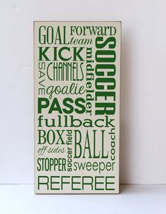 Soccer Subway Art Wood Sign, Children Wall Art, Children Bedroom Decor, Soccer Decor, Soccer Decor, Sustainable Home Decor,You Choose Colors on Etsy, $55.00