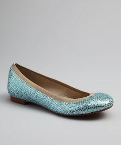 Blue Glitter Amira Flat bu Andrew Stevens