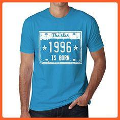 The Star 1996 is Born Men's T-shirt Blue Birthday Gift - Birthday shirts (*Partner-Link)