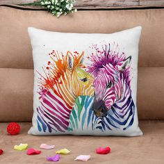 Best Selling Watercolor zebras 3d animal Throw or Bed Cushion with filler or without filler for two Choice-in Cushion from Home & Garden on Aliexpress.com | Alibaba Group