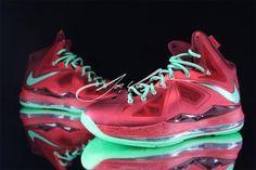 NIKE LEBRON X UNIVARSITY RED/TOURMALINE-TEAM RED #sneaker
