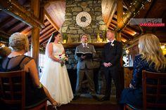 A nice and cozy ceremony inside the lodge at Elkins Resort. #wedding #idaho #priestlake #elkinsresort #idahowedding #bride #groom #ceremony #lodge