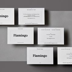 Flamingo by @bibliothequeldn - See more on the site www.the-brandidentity.com