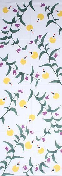 Japanese tenugui, fabric Autumn 'firefly'