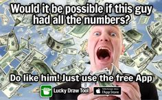 Could it be you? The big #winner of the #lottery under all this #money - Maybe you should try to get your #lotto #numbers from:https://goo.gl/tbMou8 - #olg #fdj #lotoquebec #lotteryusa #bingo