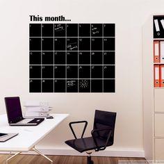 Calendrier Mensuel en Ardoise | ambiance-sticker.com