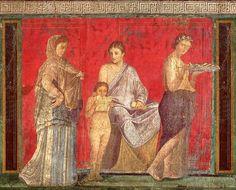 File:Pompejanischer Maler um 60 v. Chr. 001.jpg Afresco da Vila dos Mistérios em Pompéia, pintura do 2º estilo, ca. 60 a.C.