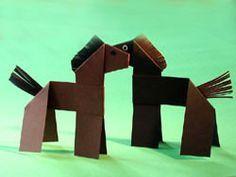 pferd aus papierrollen basteln, aus einem pappteller und einer klopapierrolle können sie mit ihrem, Design ideen