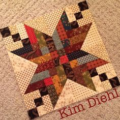 Farmhouse Stars Block by Kim Diehl for the Simple Whatnots Club 6 at WashTub Quilts.