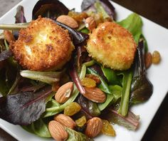 Baby Romaine Salad with Fried Goat Cheese