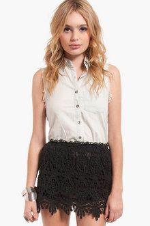 St Tropez Lace Skirt in Black