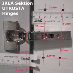 Easily upgrade cabinets with these adjustable, disguised hinges. With a few turns, cabinet doors can fit flat and straight and close perfectly / instalar bisagras euro Carpentry Tools, Woodworking Skills, Woodworking Projects Diy, Dowel Jig, Office Table Design, Shelf Inspiration, Diy Furniture Decor, Learning Tower, Decoupage Wood