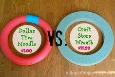 A Step in the Journey: Use a pool noodle & duct tape as a one dollar styrofoam wreath form