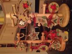 """Rustic"" Christmas Ornaments - paper, paint, buttons : Supplies available at Michaels"