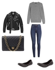 """""""Untitled #419"""" by kaittd on Polyvore featuring Ralph Lauren Black Label, H&M, BCBGMAXAZRIA, Yves Saint Laurent and Chanel"""