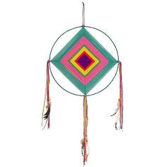 Natural Life Dream Catcher (135 BRL) ❤ liked on Polyvore featuring home, home decor, colorful home decor and handmade home decor