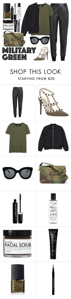 """""""Go Army Green!"""" by lovesammi98 ❤ liked on Polyvore featuring Vince, Valentino, NLST, Monki, CÉLINE, Yves Saint Laurent, Marc Jacobs, NARS Cosmetics, Fig+Yarrow and Givenchy"""