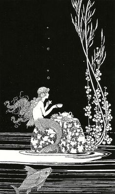 Ida Rentoul Outhwaite illustration: The Merman's Glass House Vintage Mermaid, Mermaid Art, Mermaid Paintings, Tattoo Mermaid, Mermaid Illustration, Vintage Illustration Art, Book Illustrations, Mermaids And Mermen, Fantasy Mermaids